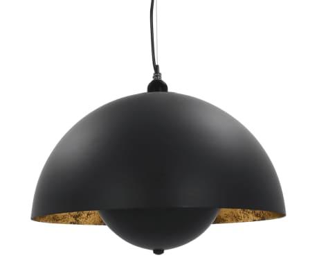 vidaXL 2 pcs Plafonniers Noir et doré Semi-sphérique 30 cm E27[4/12]