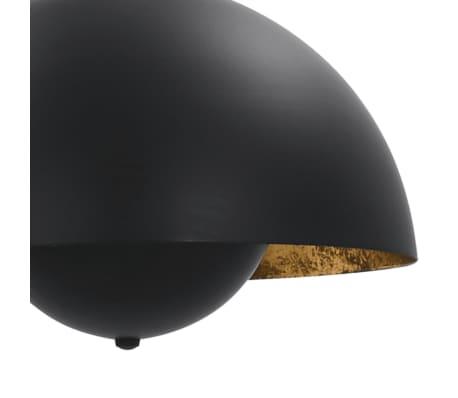 vidaXL 2 pcs Plafonniers Noir et doré Semi-sphérique 30 cm E27[8/12]