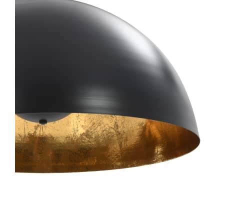 vidaXL 2 pcs Plafonniers Noir et doré Semi-sphérique 50 cm E27[7/10]