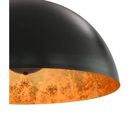 vidaXL 2 pcs Plafonniers Noir et doré Semi-sphérique 50 cm E27[8/10]