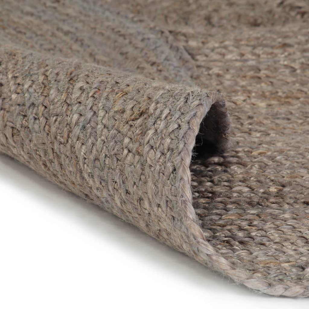 vidaXL Ručně vyrobený koberec z juty kulatý 120 cm šedý