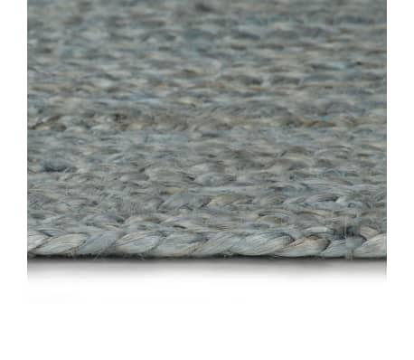 Vidaxl Teppich Handgefertigt Jute Rund 120 Cm Olivgrun Zum