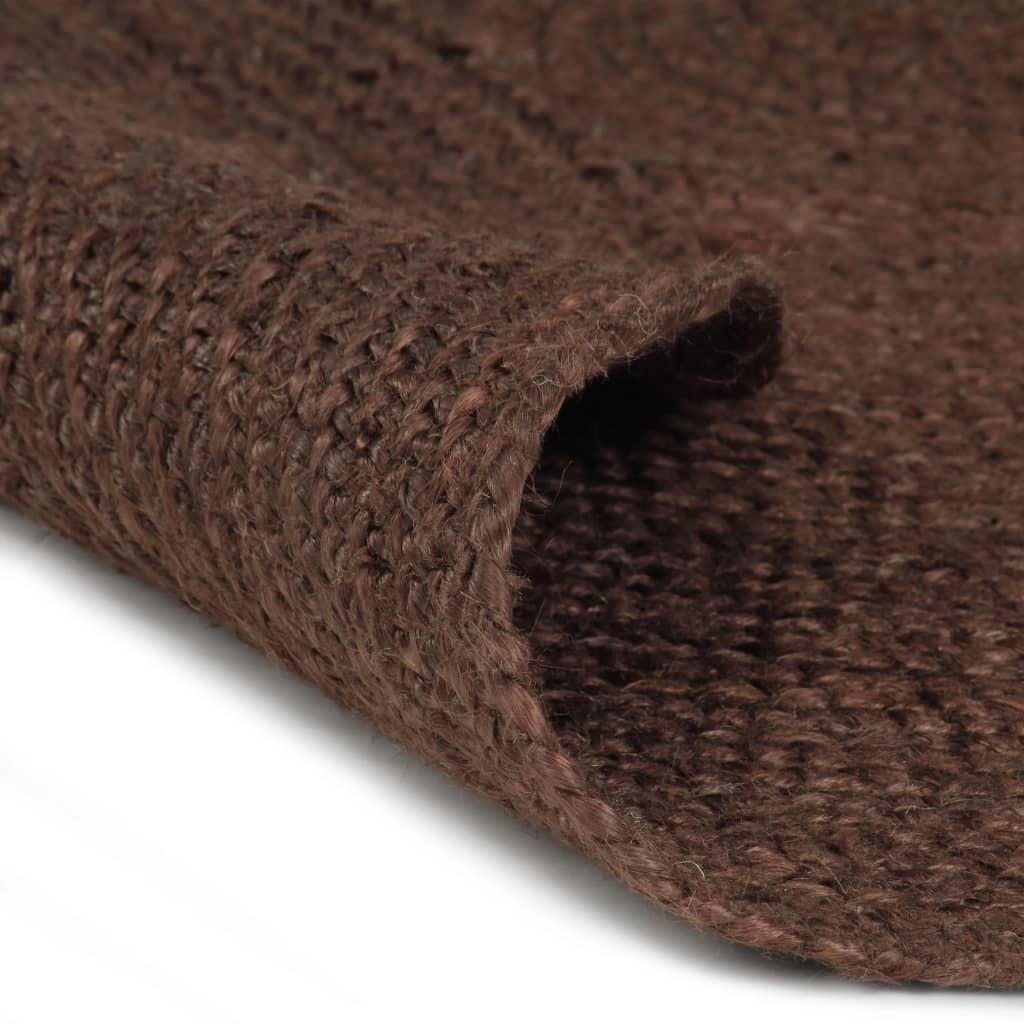 vidaXL Ručně vyrobený koberec z juty kulatý 90 cm hnědý