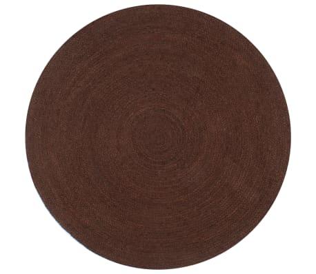vidaXL Vloerkleed handgemaakt rond 120 cm jute bruin