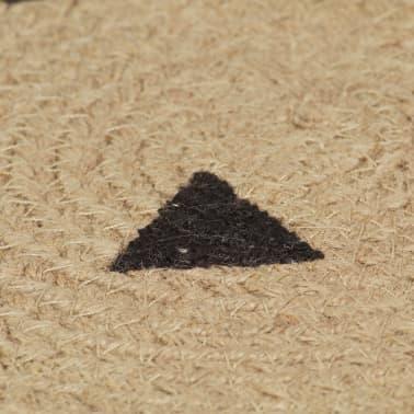 vidaXL Preproga iz jute s potiskom trikotnikov ročno izdelana 90 cm[5/5]