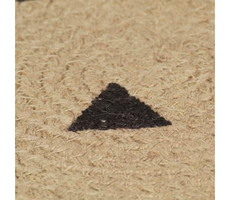 vidaXL Preproga iz jute s potiskom trikotnikov ročno izdelana 120 cm[5/5]