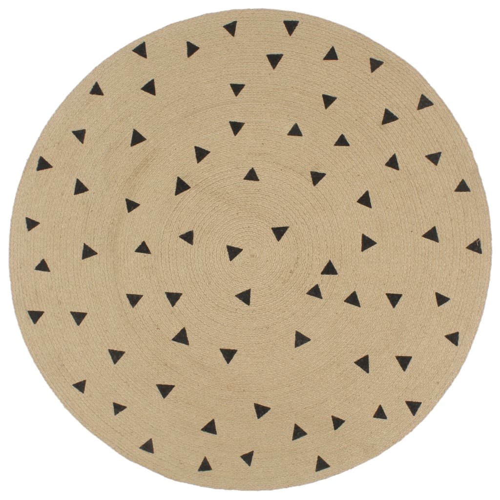 999133691 Teppich Handgefertigt Jute mit Dreiecksmuster 150 cm