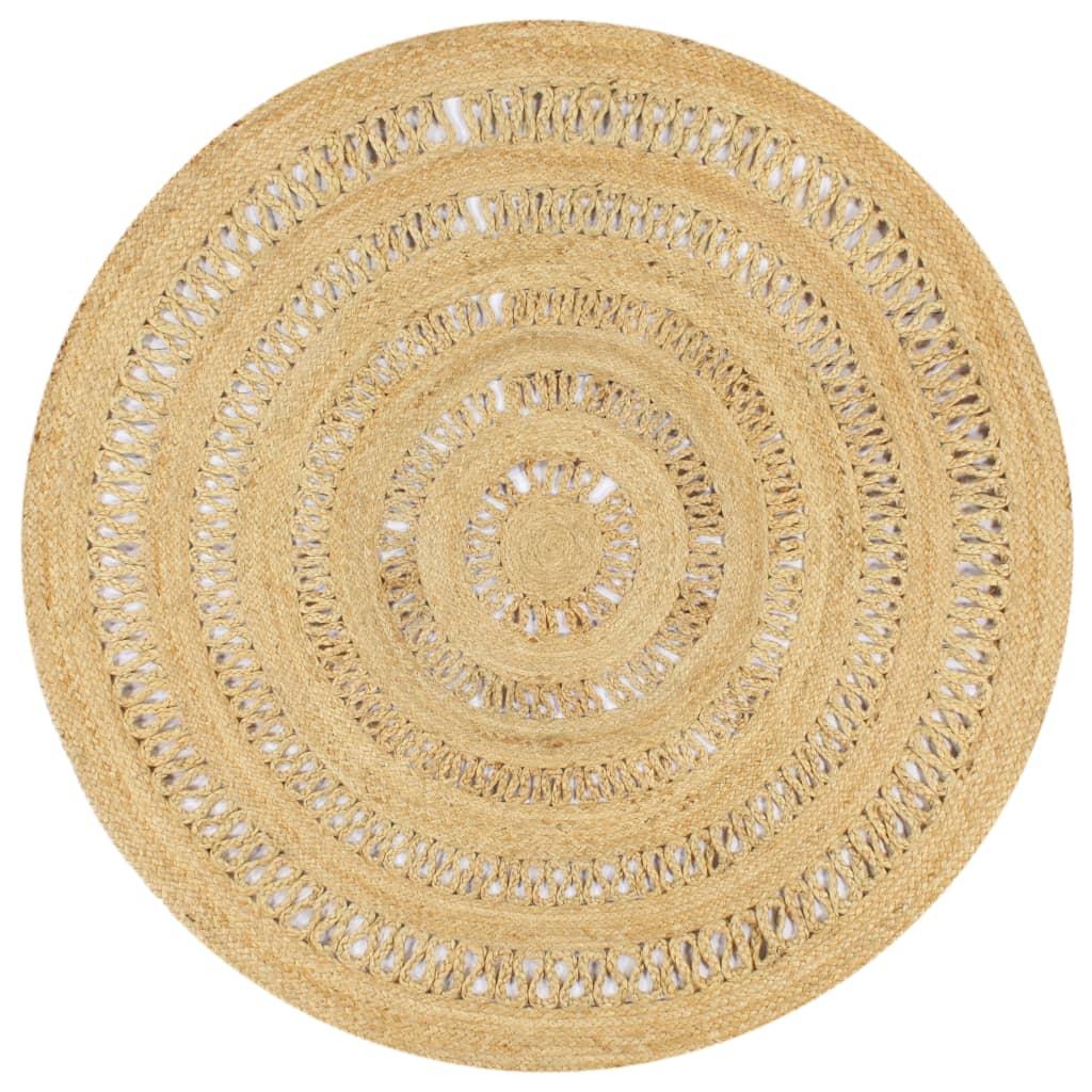 999133709 Teppich Handgefertigt Jute Geflochten 150 cm
