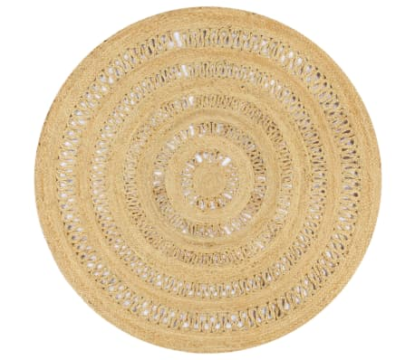 vidaXL Handmade Rug Braided Jute 150 cm