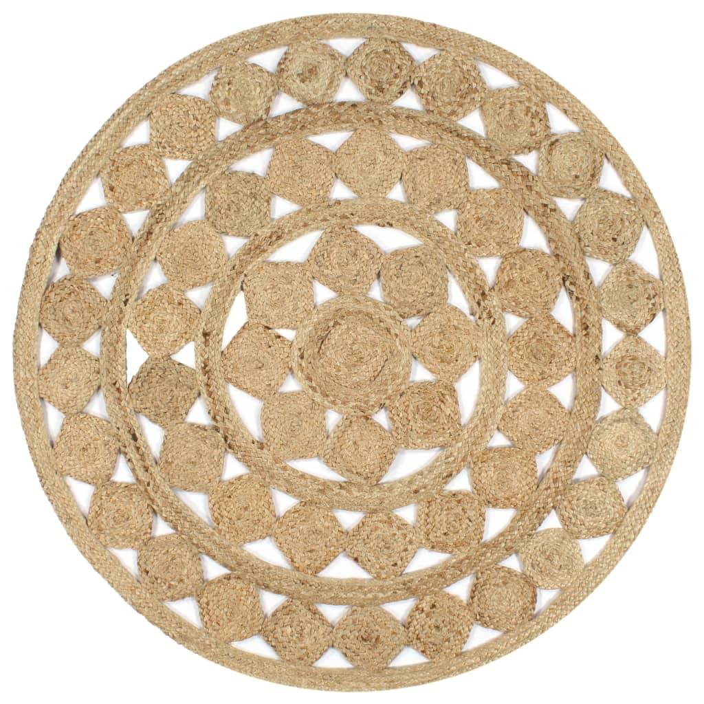 999133711 Teppich Handgefertigt Jute Geflochten 120 cm