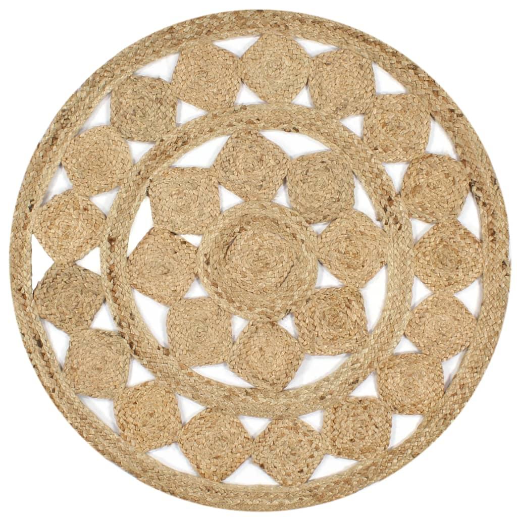 999133712 Teppich Handgefertigt Jute Geflochten 150 cm