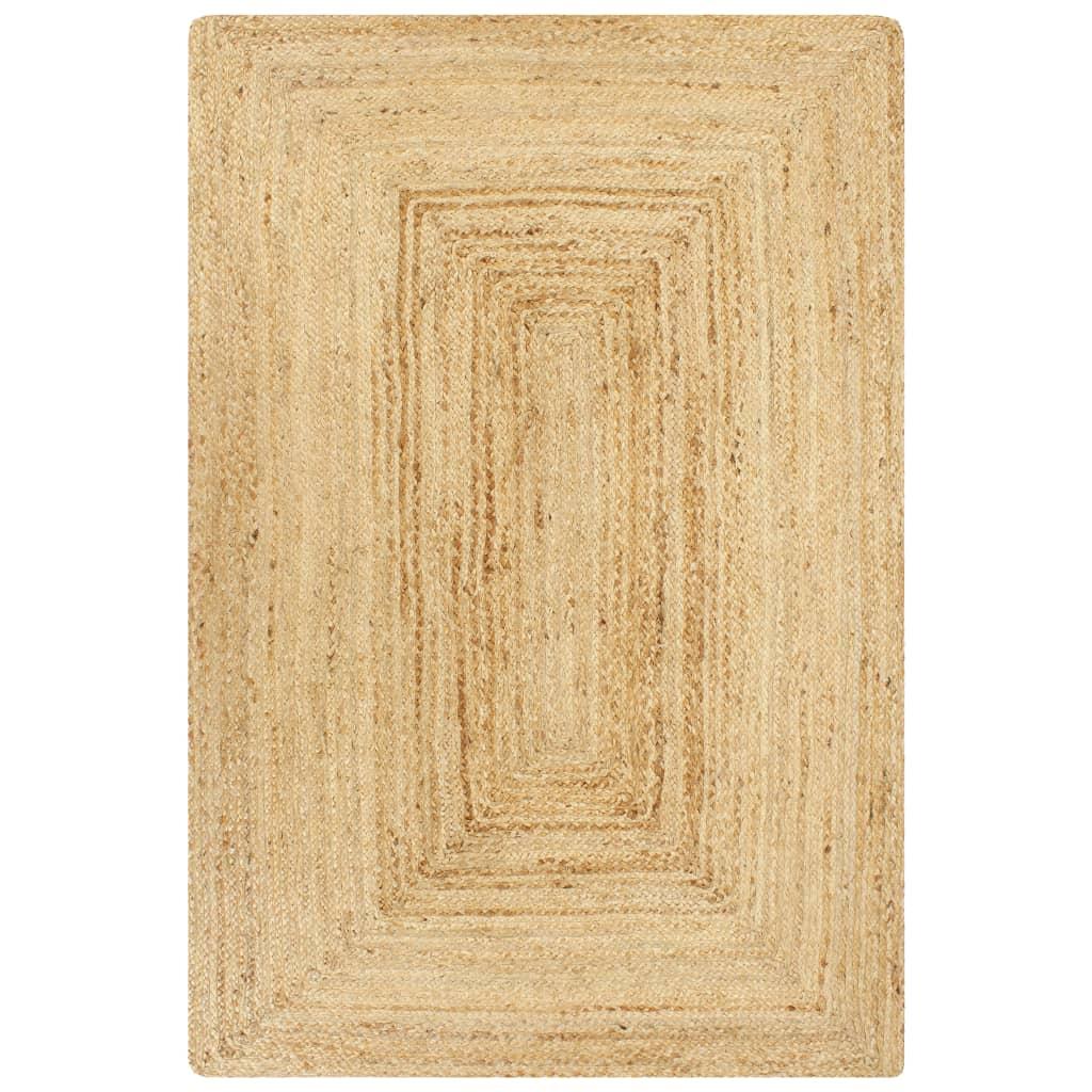 vidaXL Covor manual, natural, 120 x 180 cm, iută poza vidaxl.ro