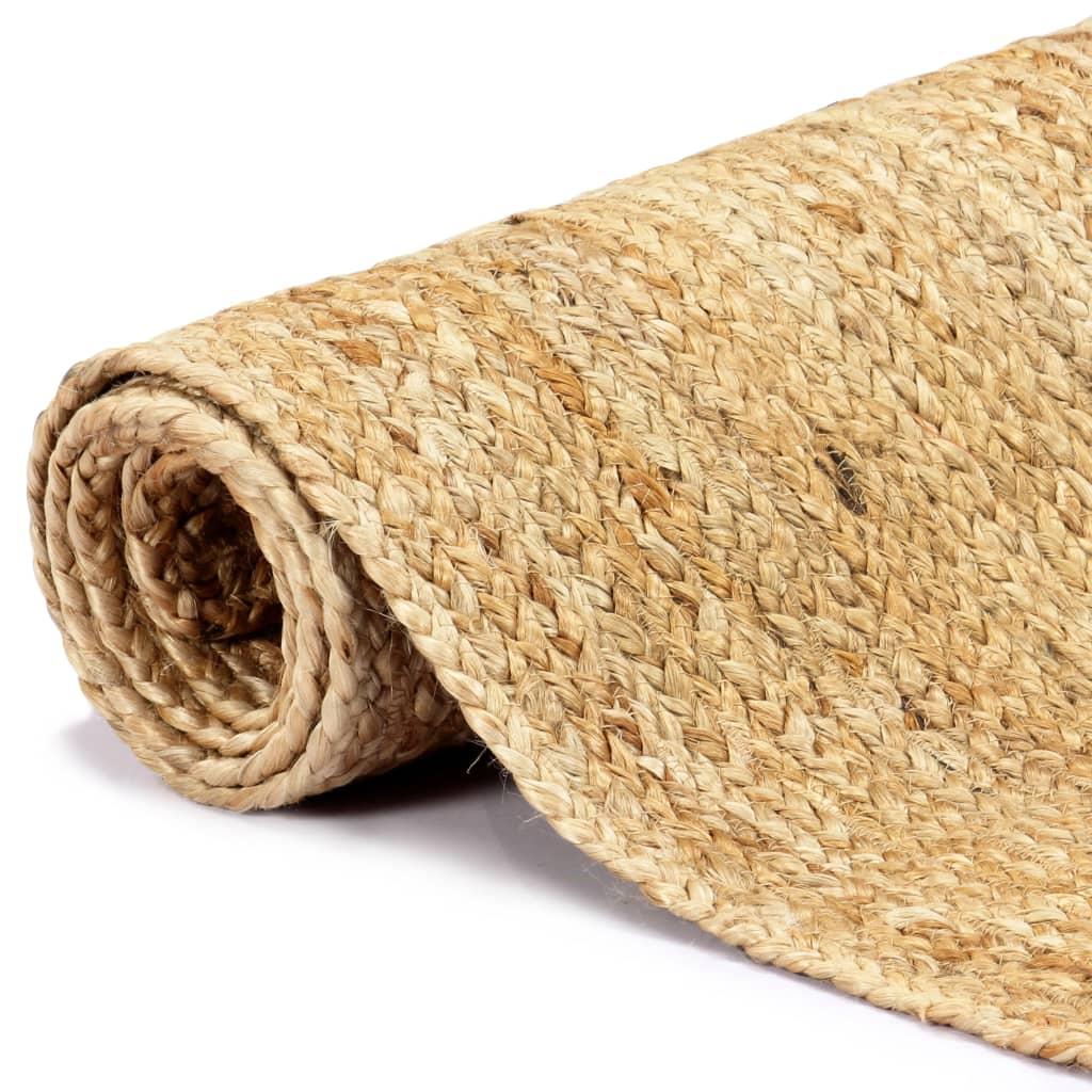 vidaXL Ručně vyráběný koberec juta přírodní 120 x 180 cm