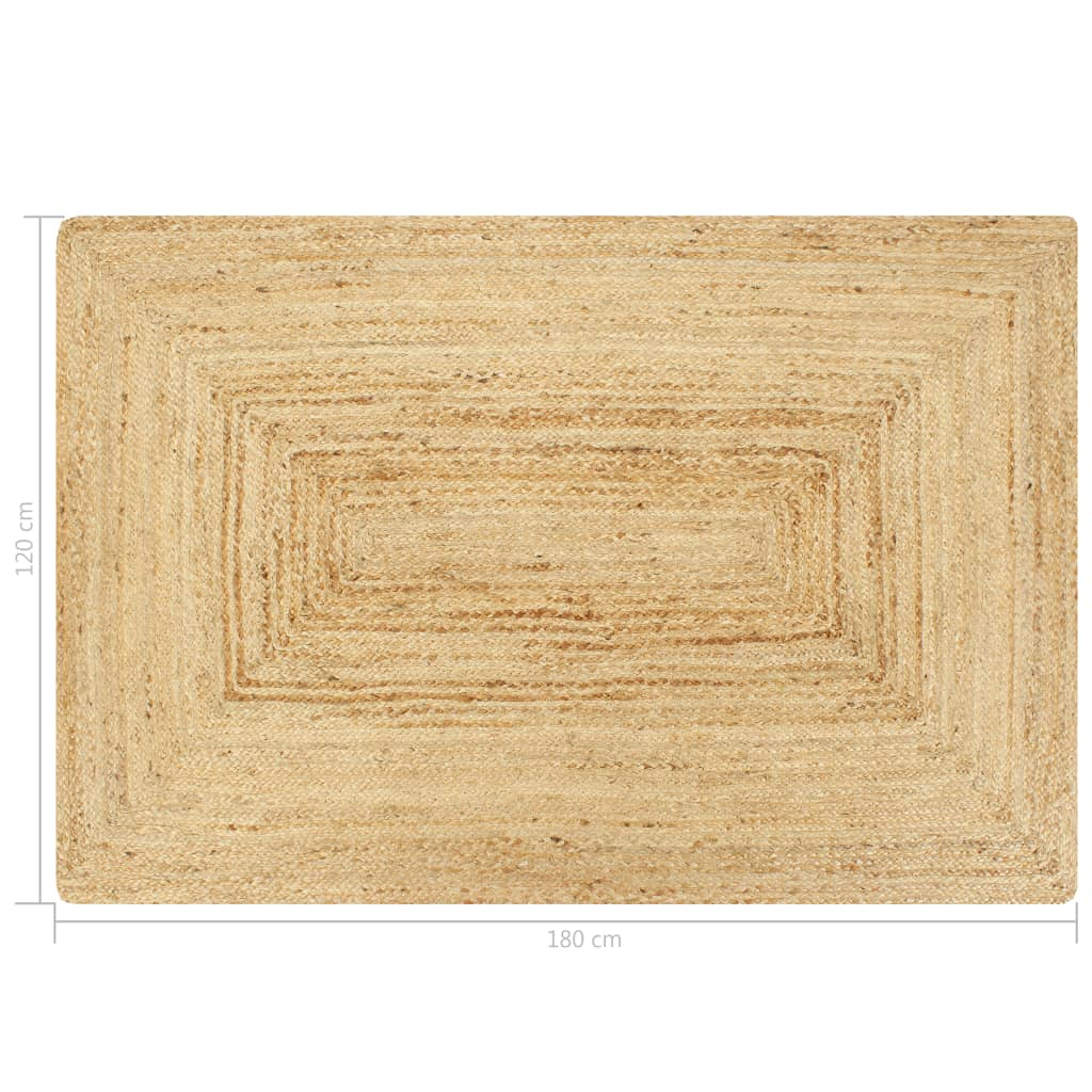 vidaXL Vloerkleed handgemaakt 120x180 cm jute naturel