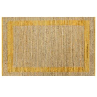 vidaXL Covor manual, galben, 80 x 160 cm, iută[2/6]