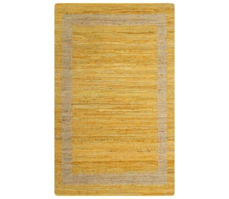 vidaXL Covor manual, galben, 160 x 230 cm, iută[1/6]