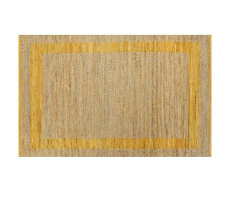 vidaXL Covor manual, galben, 160 x 230 cm, iută[2/6]