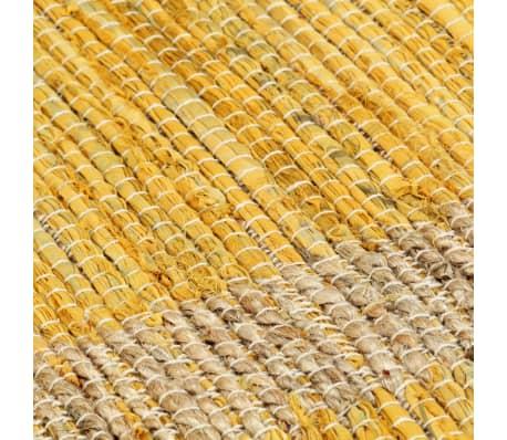 vidaXL Covor manual, galben, 160 x 230 cm, iută[5/6]
