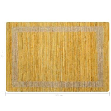 vidaXL Covor manual, galben, 160 x 230 cm, iută[6/6]