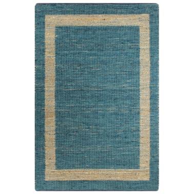 vidaXL Preproga iz jute ročno izdelana modra 80x160 cm[1/6]