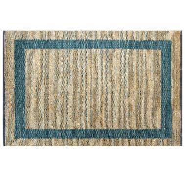 vidaXL Preproga iz jute ročno izdelana modra 80x160 cm[2/6]