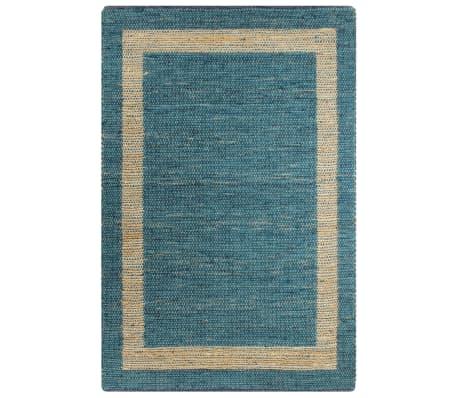 vidaXL Covor manual, albastru, 120 x 180 cm, iută
