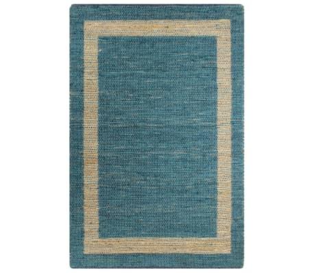 vidaXL Covor manual, albastru, 160 x 230 cm, iută