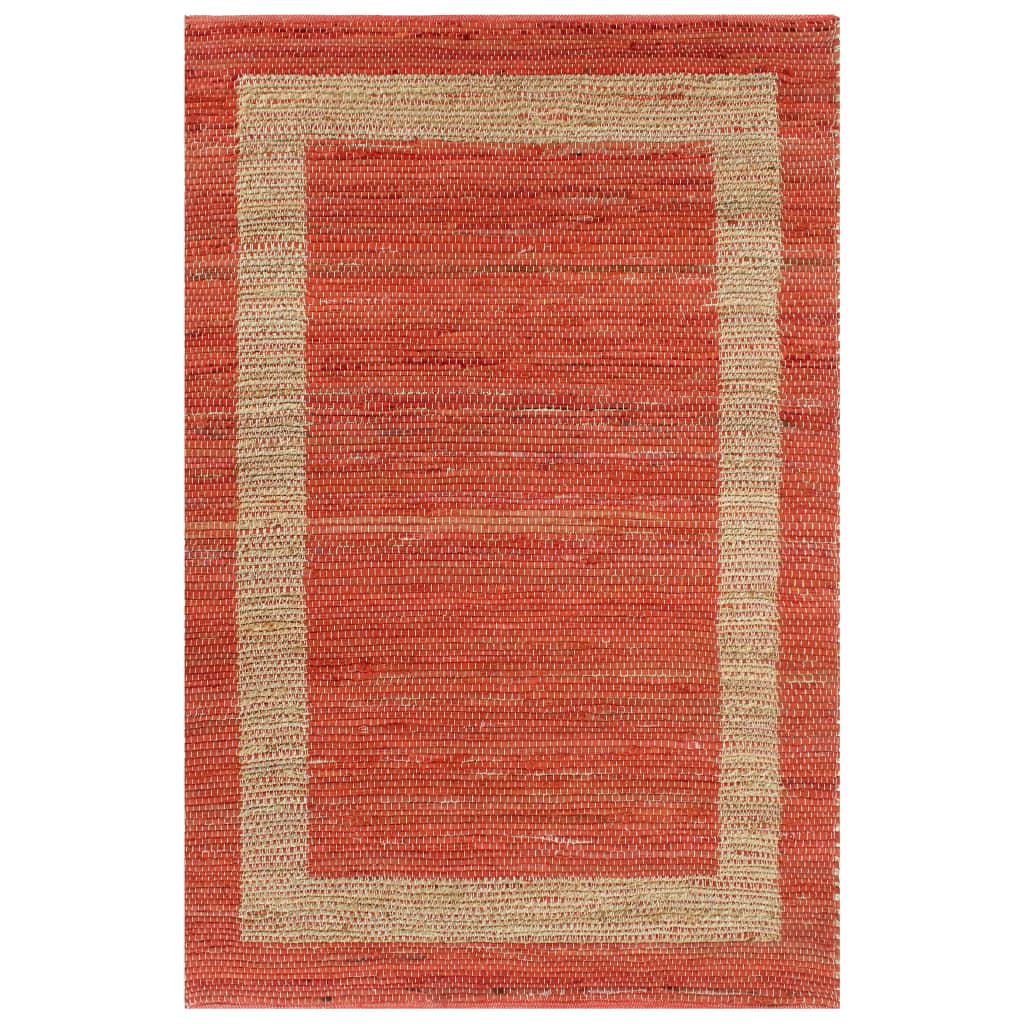 999133737 Teppich Handgefertigt Jute Rot 80x160 cm