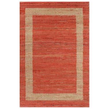 vidaXL Covor manual, roșu, 80 x 160 cm, iută[1/6]