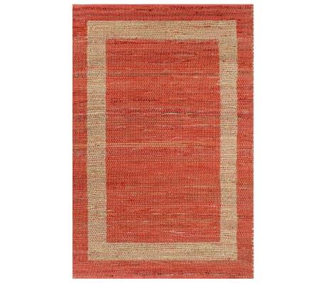 vidaXL Covor manual, roșu, 160 x 230 cm, iută[1/6]