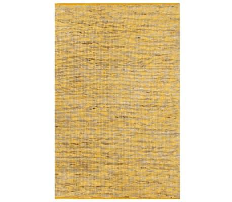 vidaXL paklājs, roku darbs, džuta, dzeltens un dabīgs, 160x230 cm