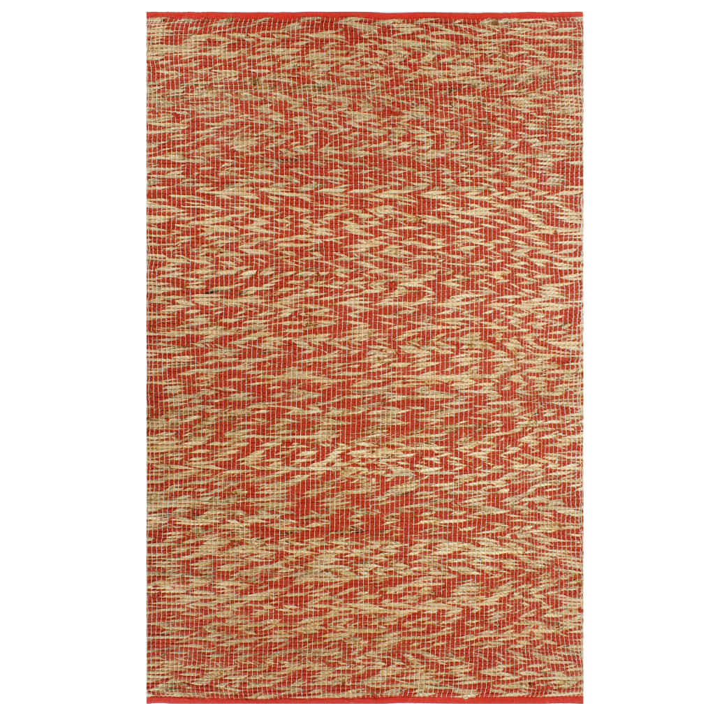 999133748 Teppich Handgefertigt Jute Rot und Natur 160x230 cm