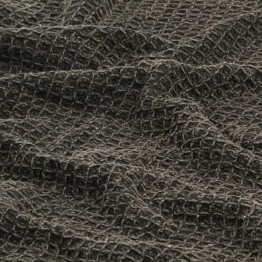 vidaXL Filt bomull 160x210 cm antracit/brun[6/6]