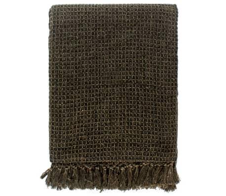 vidaXL Filt bomull 220x250 cm antracit/brun[3/6]