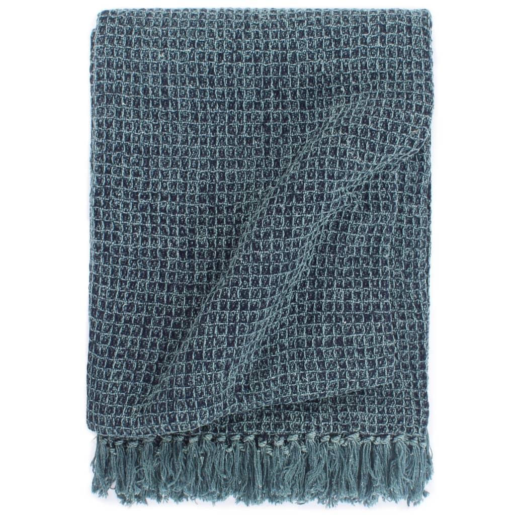 Přehoz bavlna 125 x 150 cm indigově modrý