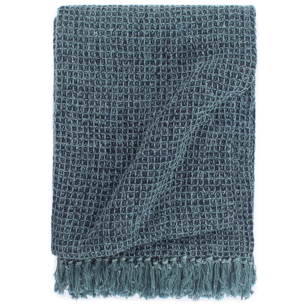 Přehoz bavlna 160 x 210 cm indigově modrý