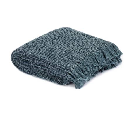 vidaXL Filt bomull 160x210 cm indigo[2/5]
