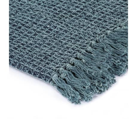 vidaXL Filt bomull 160x210 cm indigo[3/5]