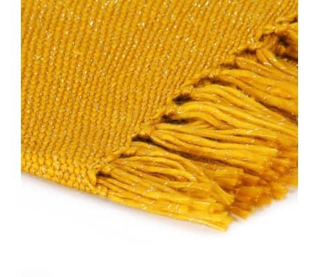 vidaXL Filt lurex 125x150 cm senapsgul[3/5]