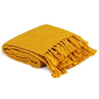 vidaXL Filt lurex 220x250 cm senapsgul[2/5]