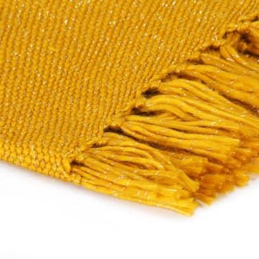 vidaXL Filt lurex 220x250 cm senapsgul[3/5]