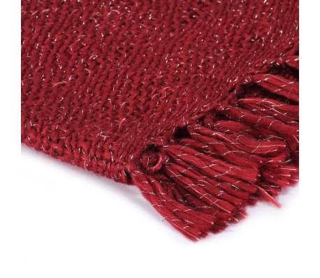 vidaXL Filt lurex 160x210 cm vinröd[3/5]