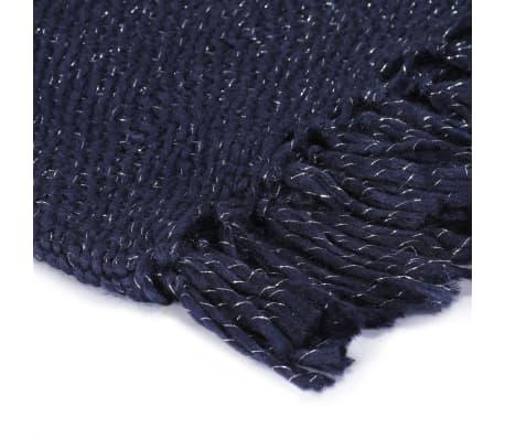 vidaXL Filt lurex 125x150 cm marinblå[3/5]