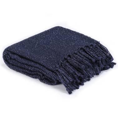 vidaXL Filt lurex 125x150 cm marinblå[2/5]