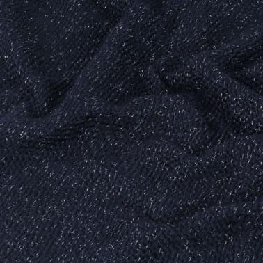 vidaXL Filt lurex 125x150 cm marinblå[5/5]