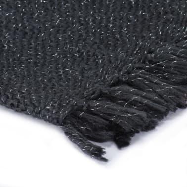 vidaXL Filt lurex 125x150 cm antracit[3/5]