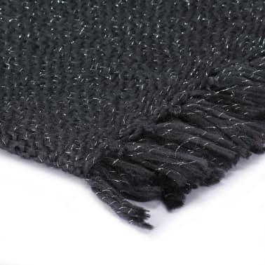 vidaXL Filt lurex 160x210 cm antracit[3/5]