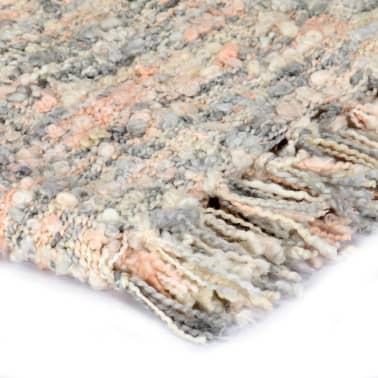 vidaXL Filt 125x150 cm rosa/vit/grå[3/5]