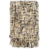vidaXL Filt 220x250 cm svart/beige/vit