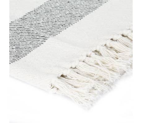 vidaXL Filt bomull randig 220x250 cm antracit[3/5]